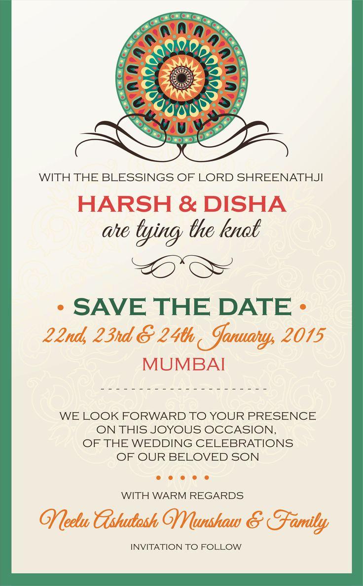 The 25+ best Indian wedding invitation wording ideas on Pinterest ...