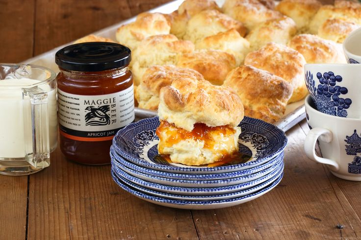 Scones with Maggie's Apricot Jam - Maggie Beer