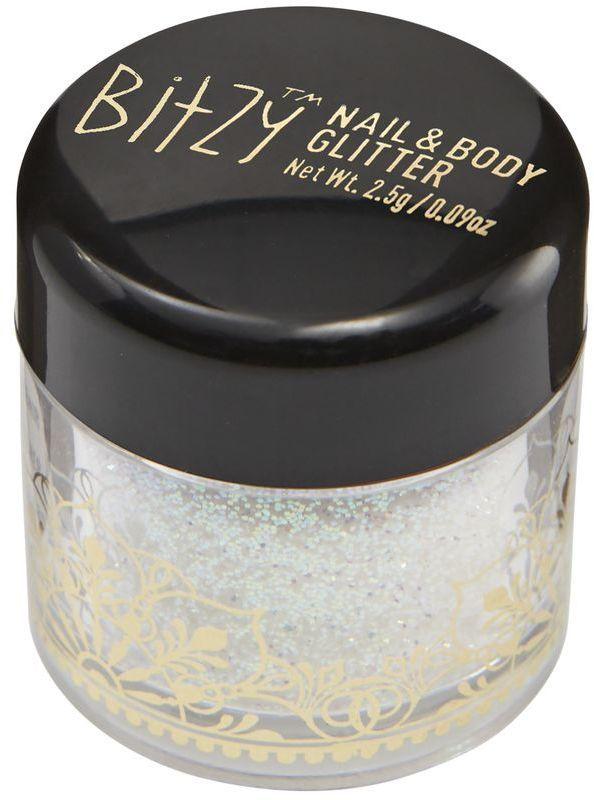 Bitzy Stardust White Nail & Body Glitter