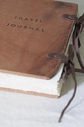 This Travel Journal made from Indian hand-made paper, oak bark tanned hide and linen thread is just begging for adventure.