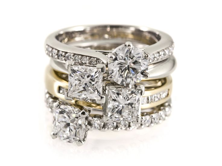 A stack of diamonds!!!! Who ever said we should be limited to one diamond ring?!? Shop here: www.gilletts.com.au
