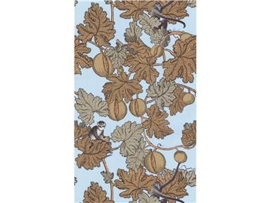 Cole & Son FRUTTO PROIBITO BLUE 77/12046.CS - Lee Jofa New - New York, NY, 77/12046.CS,Lee Jofa,Yellow, Brown,Up The Bolt,Botanical/Foliage,United Kingdom,Yes,Cole & Son,No,FRUTTO PROIBITO BLUE