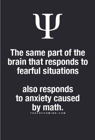 the same part of the brain that responds to fearful situations also responds to anxiety caused by math.