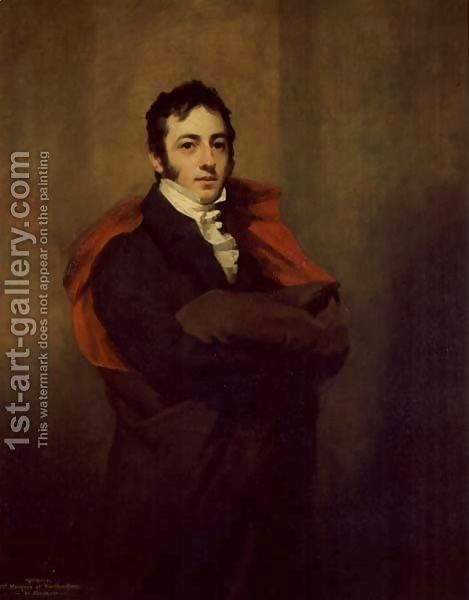 Spencer, 2nd Marquess of Northampton, 1821 - Sir Henry Raeburn - Oil Painting Reproductions