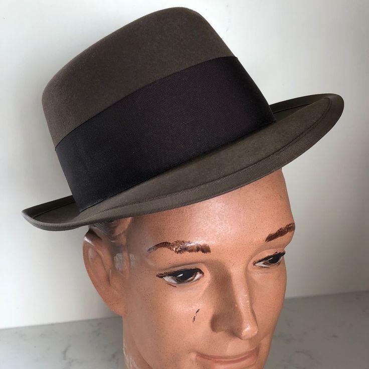Royal #Stetson #Vintage Felt #Hat Brown Homburg 7 #Jorgenson #Racine WI #vintagehat #menshat