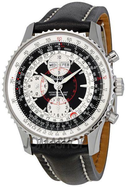 Breitling Montbrilliant Datora Black Dial Chronograph Mens Watch
