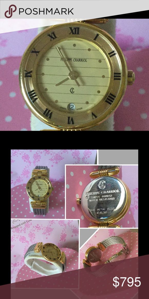 14K Philippe Charriol St.Tropez Ladies 2Tone Watch New in a gift box. Philippe Charriol St. Tropez ladies 2 tone 14KGP cable watch. Fits small wrist. Philippe Charriol  Accessories Watches