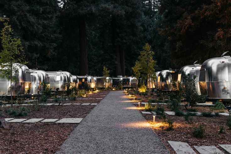 Design-forward, luxury camping among the Redwoods just outside San Francisco