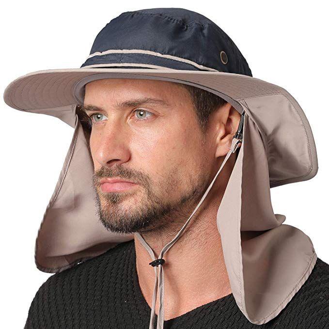 Jormatt Unisex Sun Hat With Neck Flap Cover Fishing Safari Cap Neck Protection Upf 50 Review Sun Hats Hats For Men Hats