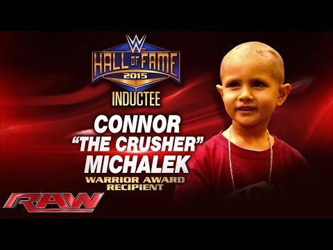 Connor Michalek to receive first-ever Warrior Award at 2015 WWE Hall of Fame: Raw, March 9, 2015 - YouTube