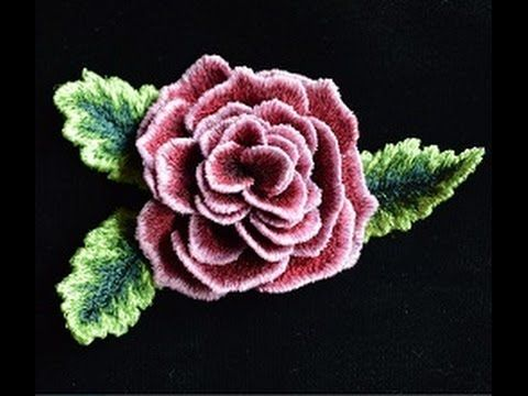 Amazingly Beautiful 3-D Rose Stitched With Your Vintage Treadle Sewing M...