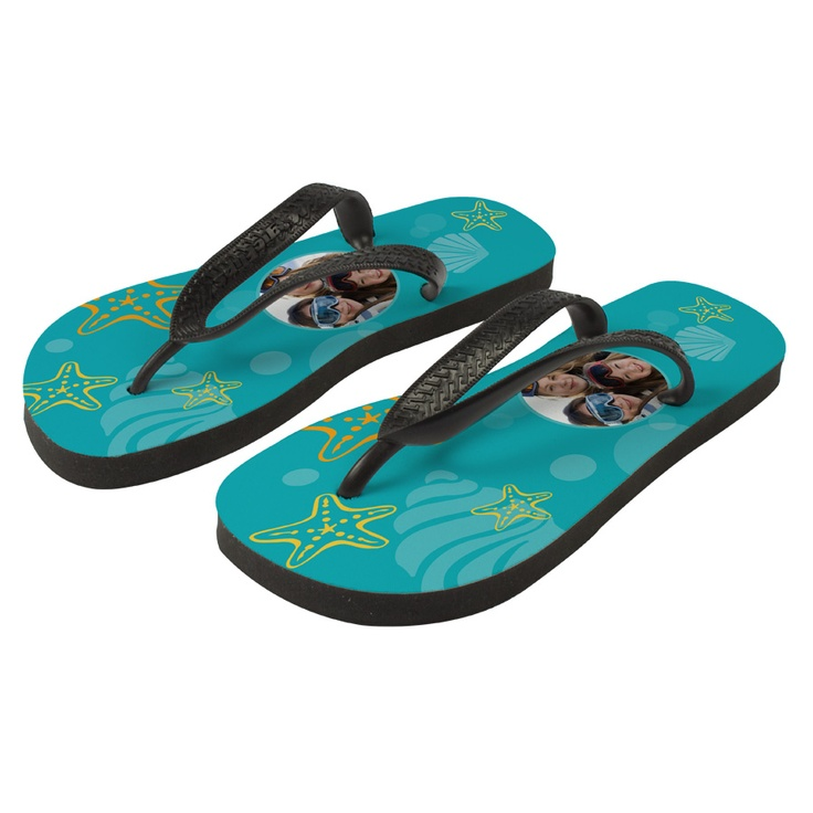 Nice flipflops, give them your personal touch. £21.95