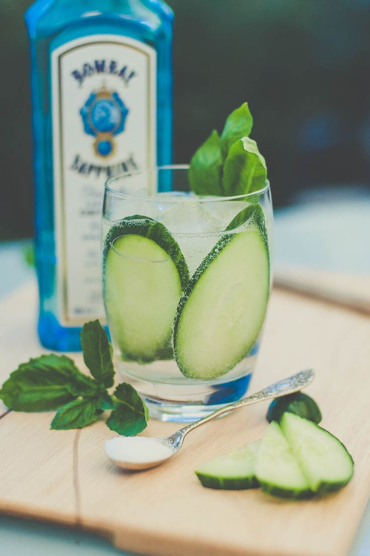 Basil & Cucumber Gin and Tonic.