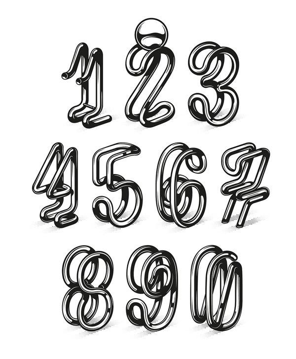 Extra Ball - Yorokobu Numbers by Baimu, via Behance