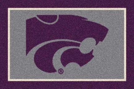 """Kansas State Wildcats 7' 8"""" x 10' 9"""" Team Spirit Area Rug (also smaller)"""