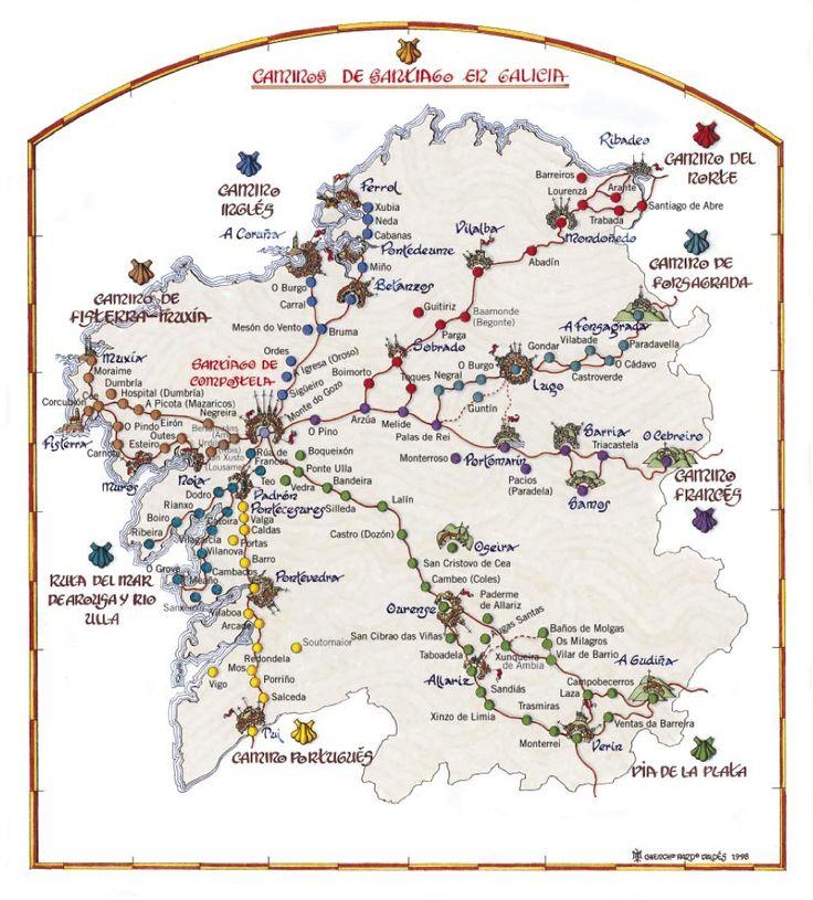 Caminos de Santiago en Galicia