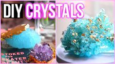 DIY Tumblr room decor! Learn how to grow crystals/geodes with alum at home! DIY room decorations for teenagers with a bit of science! Tag me if you recreate ...