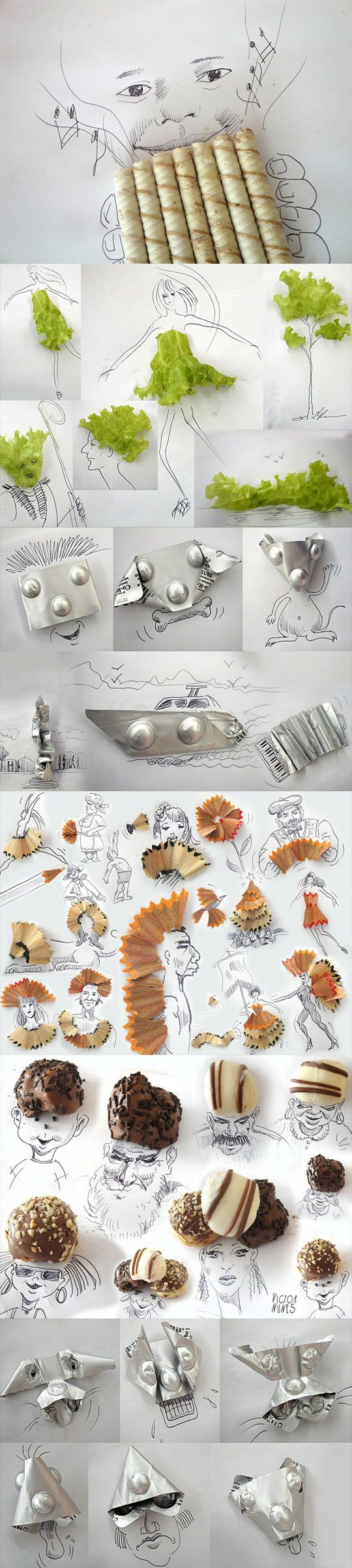 funny-drawing-popcorn-scissors-coffee-mugs-nuts-pen