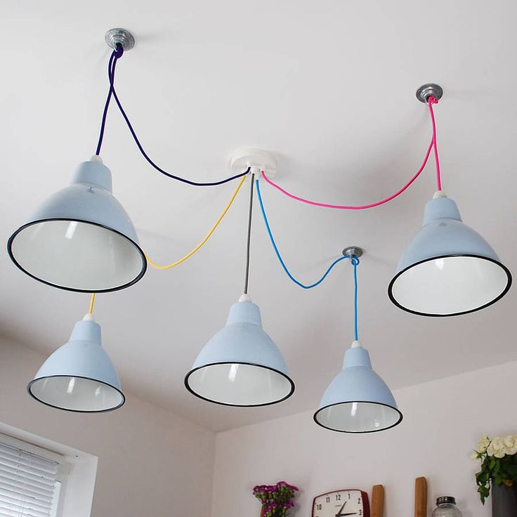 Five Way Multi Outlet Ceiling Rose And Cable Kit