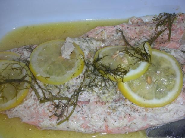 Scottish Salmon With Herb Butter