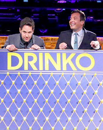 Jimmy Fallon, Paul Rudd Chug Gravy, Tequila in Wild Drinko Game: Watch - Us Weekly