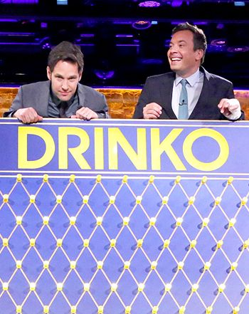 Jimmy Fallon, Paul Rudd Chug Gravy, Tequila in Wild Drinko Game: Watch - Us Weekly