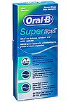 ORAL-B SUPER FLOSS. This stuff is awesome!! Great for threading between brackets! The thicker part gets all the food and plaque out.