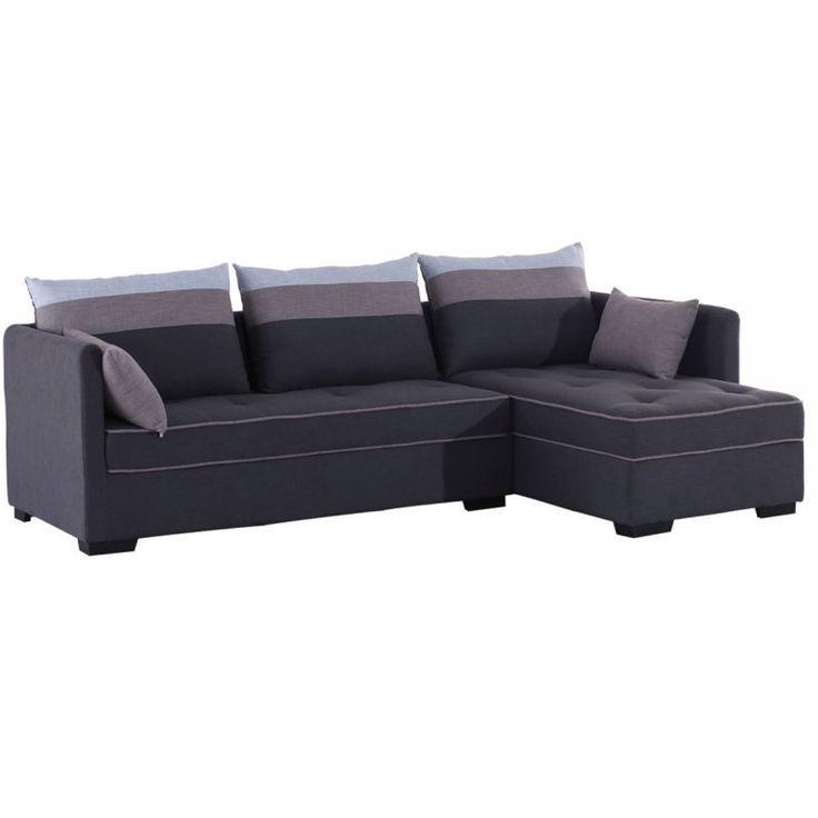 Καναπές-κρεβάτι Flexy αρ.γωνία ύφασμα γκρι 259x158x73
