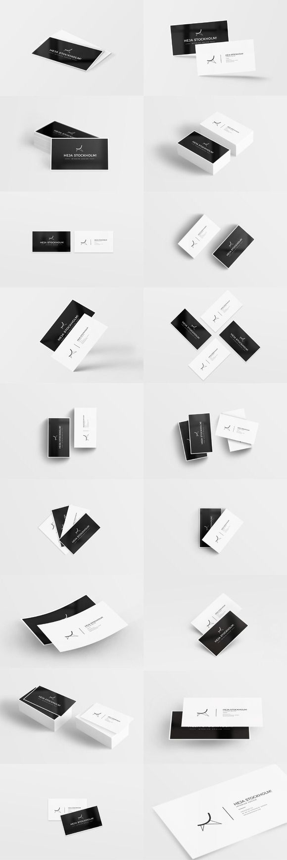 32 Clean Business Card Mockups by Worn Out Media Co. on Creative Market