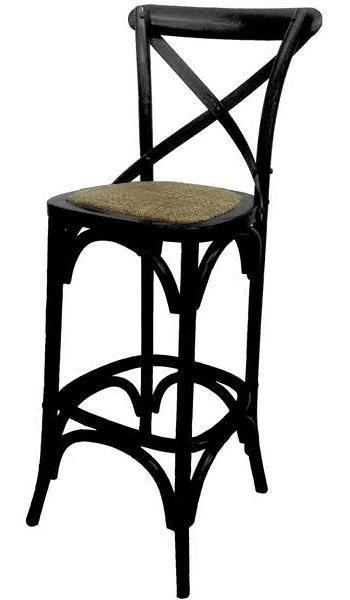 Provincial Crossback Bar Stool - Black - $189