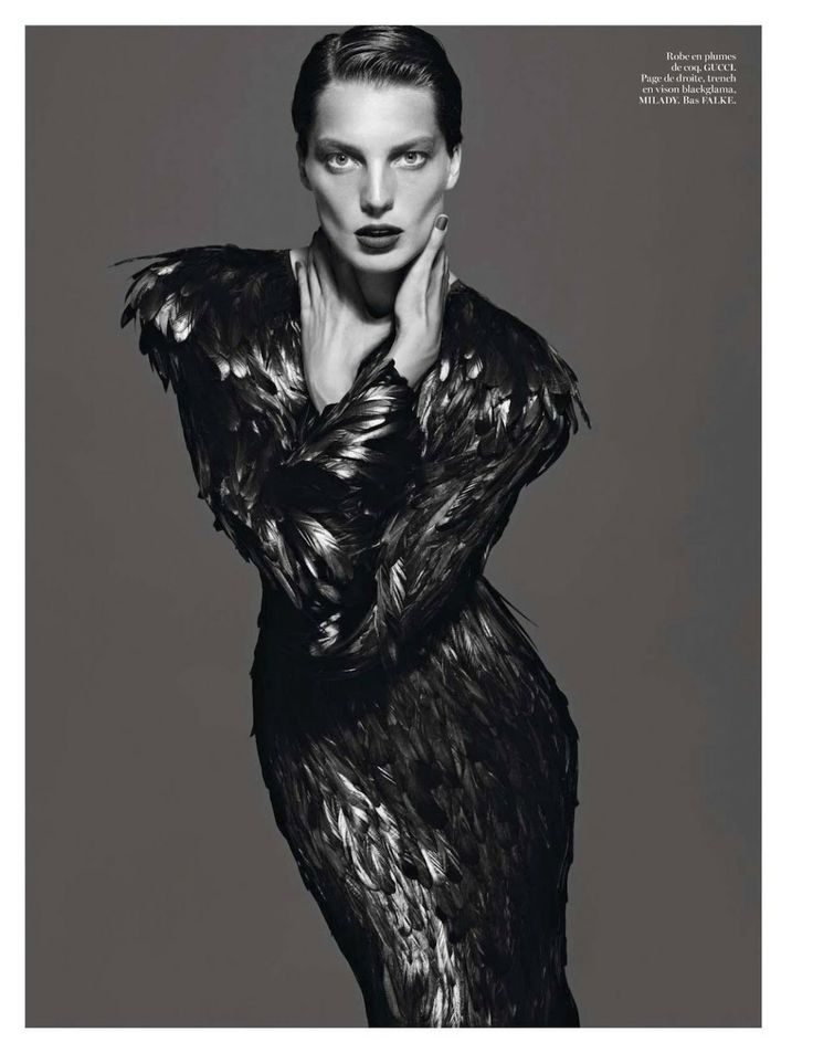 visual optimism; daily fashion fix.: le noir partie 4: daria werbowy by mert and marcus for vogue paris september 2012