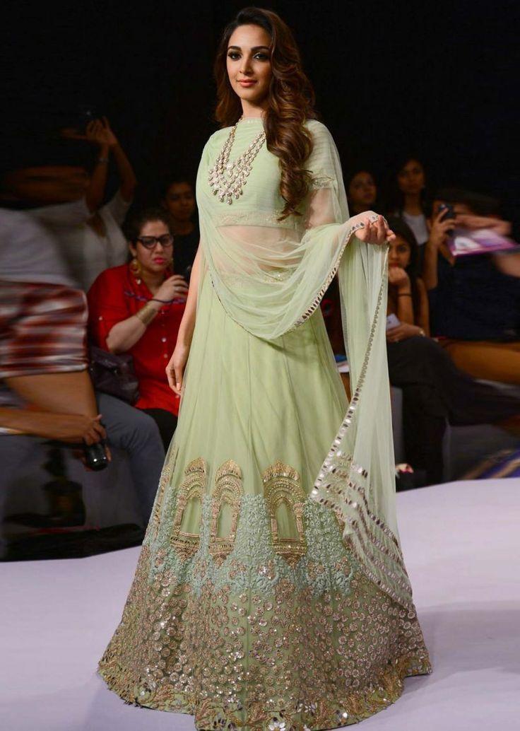 Bollywood Actress Lehenga Ridhi Mehra | mint green reception lehenga | Lakme Fashion Week Summer Resor