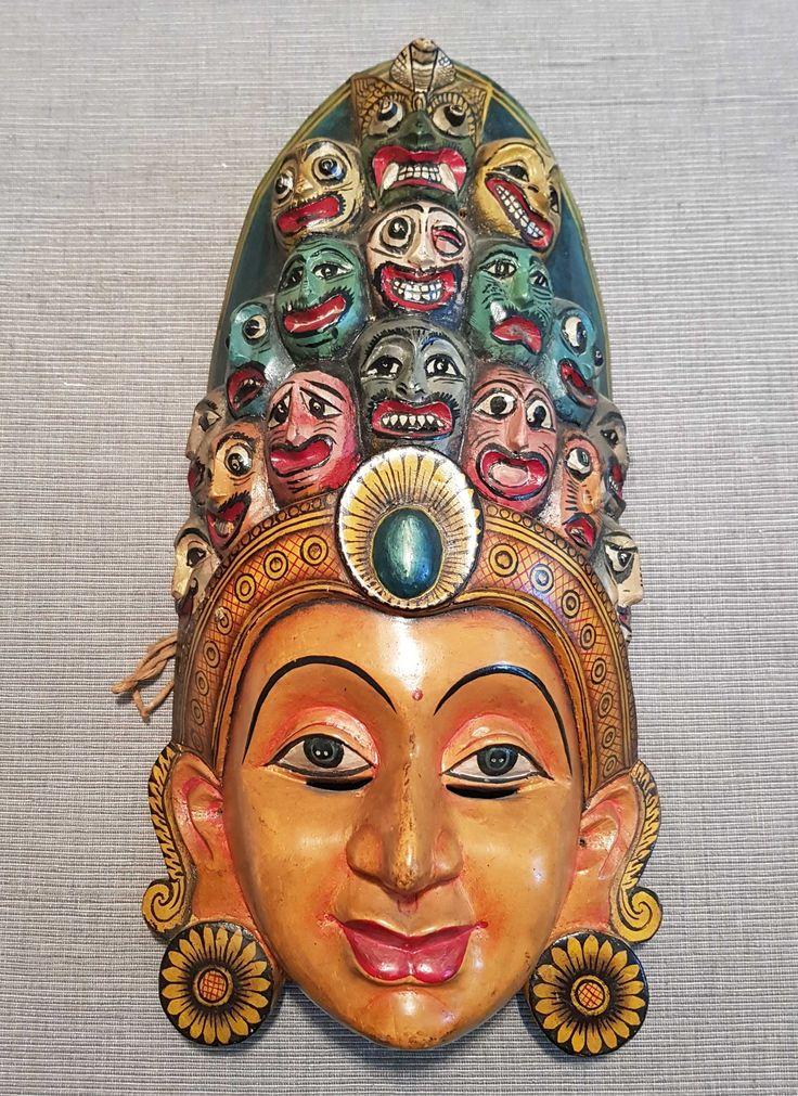 Sinhalese KolamMask, bought around 1975 in Sri Lanka