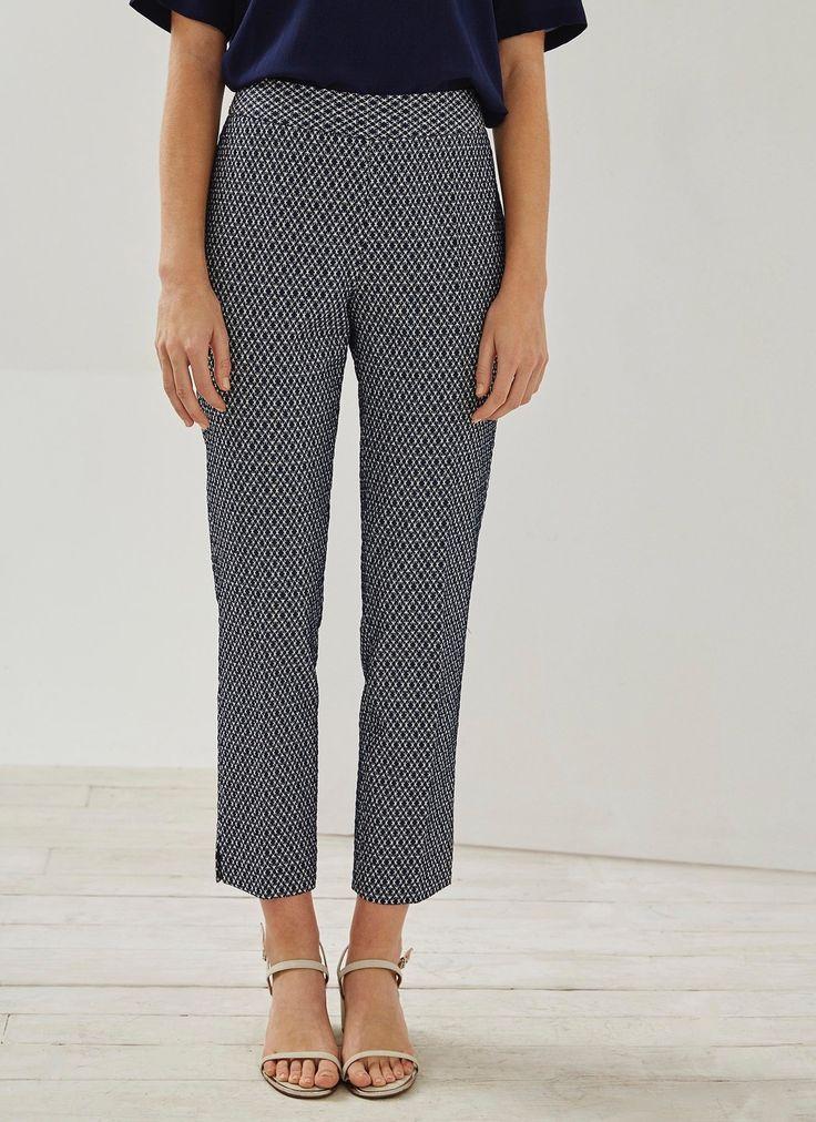 Pantalón italiano estampado - AD Mujer | Adolfo Dominguez shop online