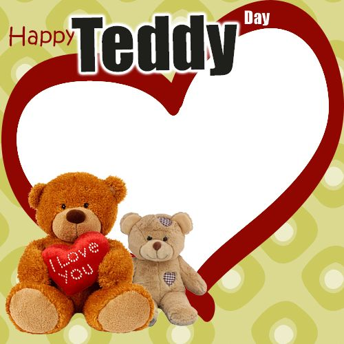 Happy Teddy Day Valentine Frame Generator For Love Couple.Create Teddy Day Couple Frame Online.Personalize Teddy Day Special Frame Online.Valentine Greetings With Custom Photo.Cute Teddy With Couple Photo Frame.Create Valentines Day Special Photo Frame With Your Lover Photo and Name.Online Valentine Celebration Pics With Custom Photo Maker For Whatsapp Profile Picture.