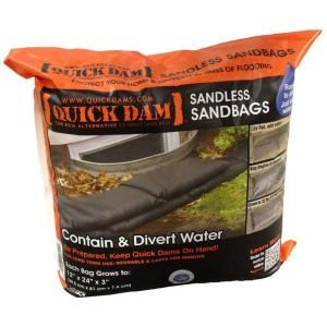 Quick Dam 12 in. x 24 in. Expanding Barriers (6-Pack)-QD1224-6 - The Home Depot
