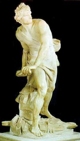David  Gian Lorenzo Bernini  1623-24  White marble  * Galleria Borghese