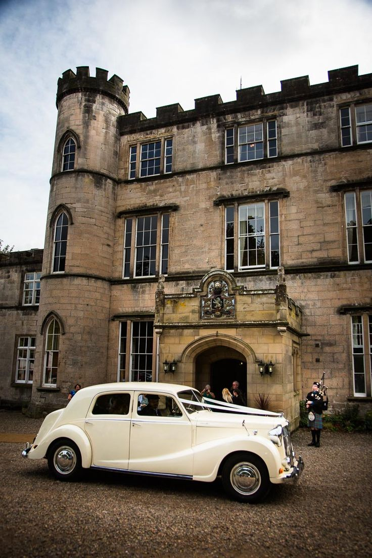 A Gorgeous Classic Car For The Wedding Grand Scottish Castle At Melville
