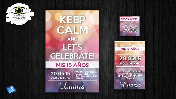 Invitaciones de 15 años modernas  #15Años #Invitaciones #2016 #fiesta #party #cumpleaños #Moderna #cononda #Mis15 #personalizada #novedad #keepcalm