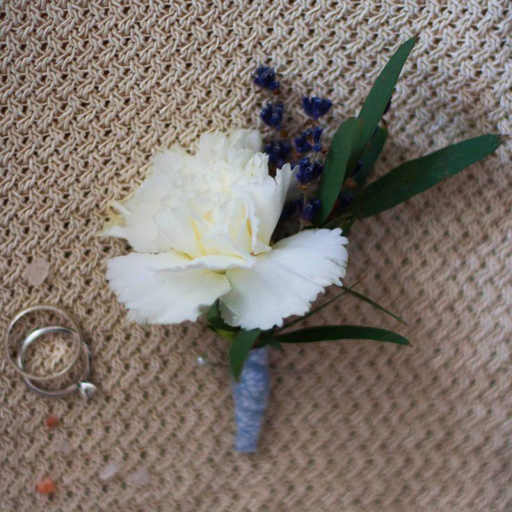 Dianthus, boutonniere, white, гвоздика, диантус, белый, бутоньерка, lavanda, лаванда