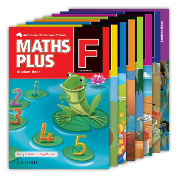 Maths Plus Australian Curriculum Edition (National) - Student Books.  Maths Plus is the number one primary maths program in Australia. The series offers whole-school maths solutions for Australian primary schools. http://www.educationstore.com.au/catalogue/mathematics/maths-plus-australian-curriculum-edition-national-student-books