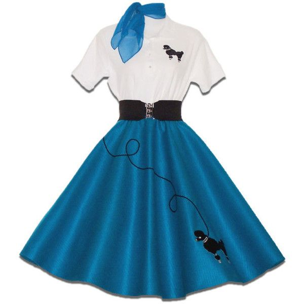 PC Adult 50s Poodle Skirt Outfit Costume Lt Pink EBay Liked On Polyvore Featuring Costumes