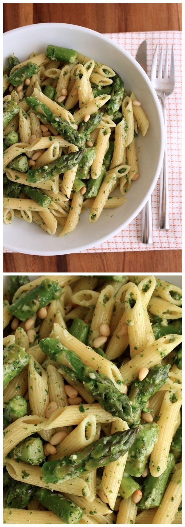 Penne with Asparagus and Lemon Pesto | Nosh-up