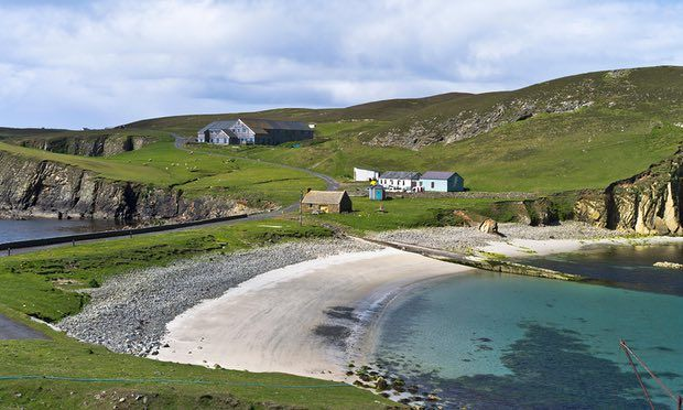 The almost complete New Fair Isle Bird Observatory - photo Deryk ...