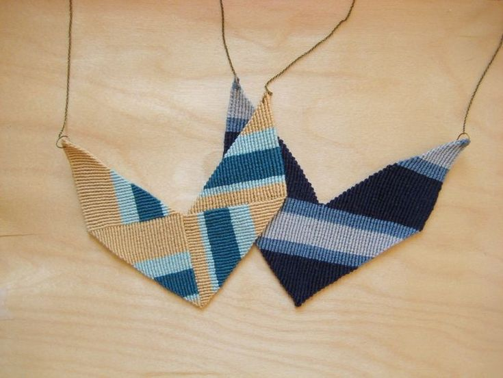 http://www.instructables.com/id/Knotted-Chevron-Statement-Necklace-Two-Ways/#