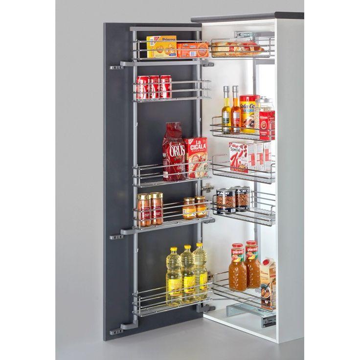 Columna despensera deslizante con freno para armarios de - Interior de muebles de cocina ...