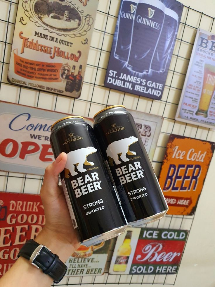 Hương Vị Bia Gấu Bear Beer Strong Lager Nhập Khẩu trong