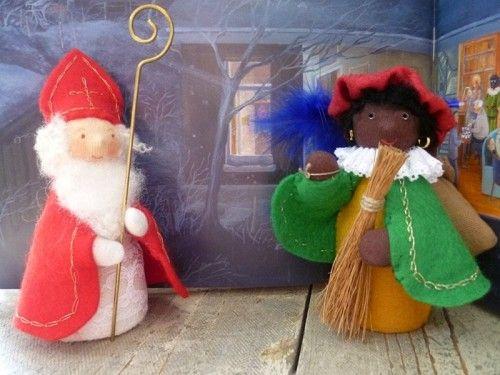 Patroonblad Sint en Piet.