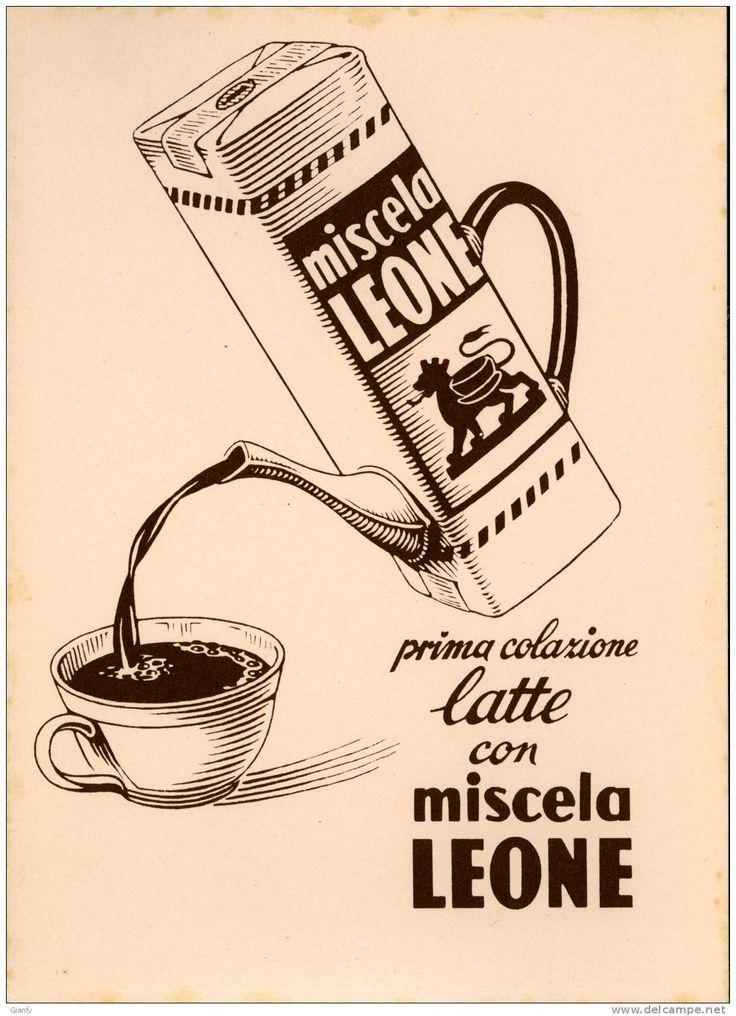 CARTA ASSORBENTE PUBBLICITA' MISCELA LEONE ANNI '40
