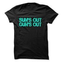 suns out guns out -  Funny workout T-shirt